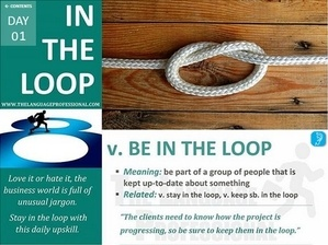 IN THE LOOP flashcard